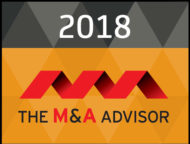 M&A Advisor Award winner badge for cross border deal of the year