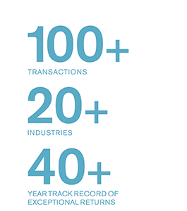100+ Transactions / 20+ Industries / 40+ Year Track Record of Exceptional Returns